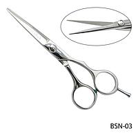 """Ножницы парикмахерские BSN-03 - для стрижки, полуэргономичной формы, размер: 5,2""""#S/V"""