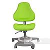 Комплект подростковая парта для школы Amare Grey + ортопедическое кресло Bravo Green FunDesk , фото 3