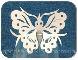 Декор бумажный ажурный для бокалов в форме бабочки (уп 20 шт)
