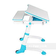 Комплект растущая парта Volare Blue + детский стул LST6 Blue FunDesk, фото 2