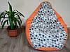 Кресло мешок Melody, бескаркасное кресло, кресло пуф, кресло груша, фото 9