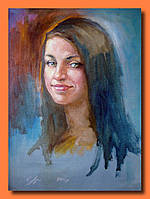 Портрет масляными красками