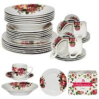 Набор посуды обеденный 30 предметов Хризантемы 060-30-08