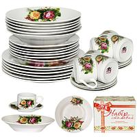 Набор посуды обеденный 30 предметов Розы 060-30-09