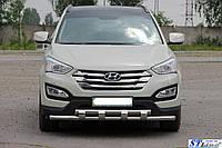 "Кенгурятник ""Shark"" Hyundai Santa Fe 2012-2018"