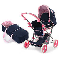 Коляска для куклы Melogo D-86615 Сине-розовый (intD-86615)