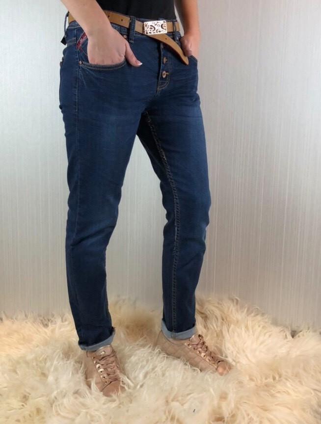 2757381d5e8 Женские джинсы бойфренды потертые с поясом - bonny-style в Днепре