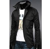 Стильная мужская куртка (каттон) черная