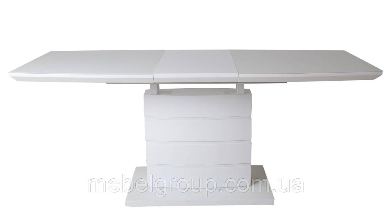 Стол ТММ-50-1 матовый белый 120/160x80
