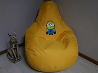 Бескаркасное кресло мешок Груша с принтовой тканью.Мягкиий Пуф для детей и взрослых