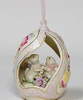 Фарфоровая музыкальная подвесная фигурка (подвеска) Кролики (Pavone)