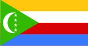 Флаг Коморские Острова 0,9х1,5 м. шелк