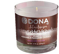 Массажная свеча DONA KISSABLE MASSAGE CANDLE - CHOCOLATE