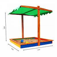 Детская песочница с крышей деревянная для игровых детских комплексов 24