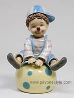 Фарфоровая музыкальная фигурка Клоун (Pavone)