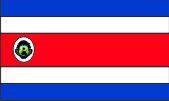 Флаг Коста-Рики 0,9х1,5 м. шелк