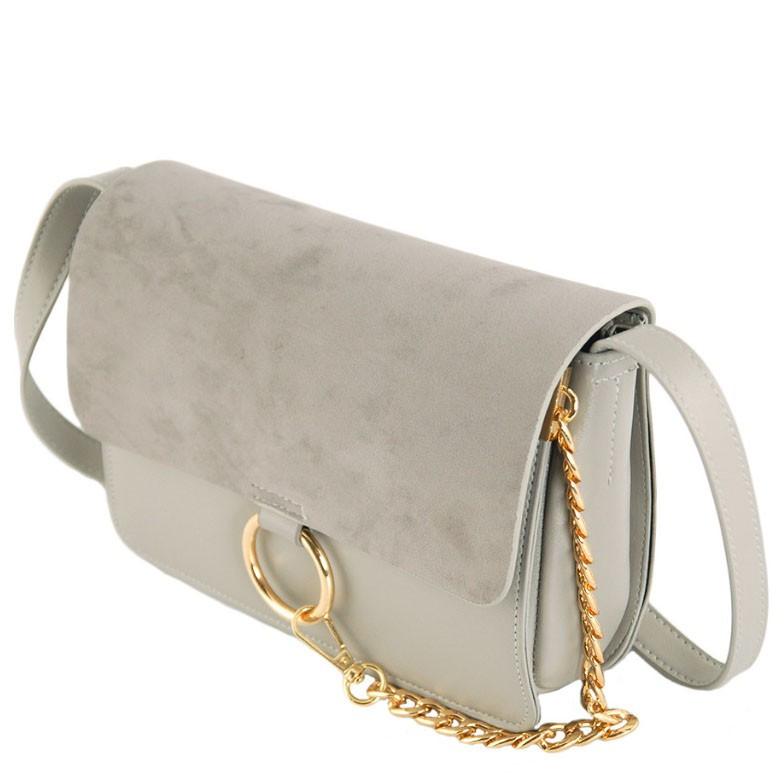 90e9e294eef6 Женская серая сумка из PU кожи TRAUM 7210-21 - Arion-store - кожгалантерея