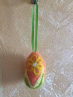 Сувенир к Пасхе. Подвеска Яйцо Валянное