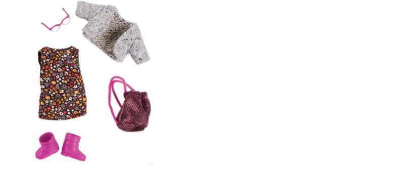 Набор одежды для кукол LORI Платье с цветами LO30021Z