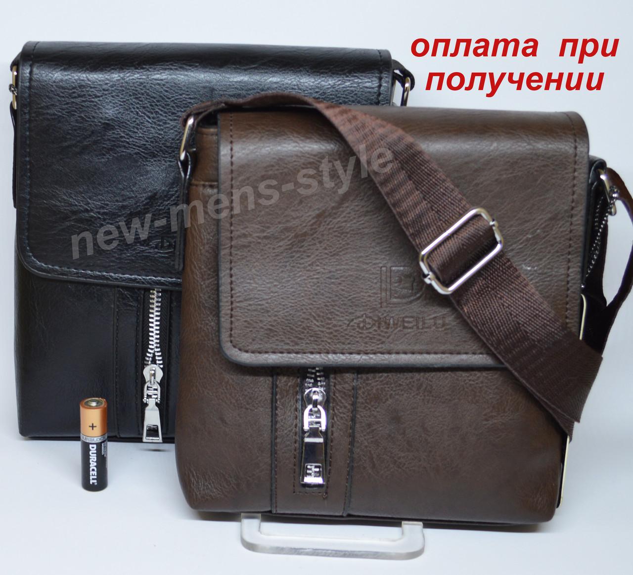 Мужская чоловіча кожаная сумка барсетка борсетка через плечо DIWEILU
