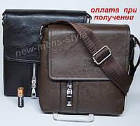 Мужская чоловіча кожаная сумка барсетка борсетка через плечо DIWEILU, фото 1