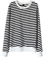 Женский стильный свитшот в полоску  (женские кофты, кофточки, толстовки и регланы, свитера и кардиганы)