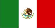 Флаг Мексики 0,9х1,6 м. шелк
