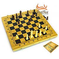 Нарды+шахматы из бамбука 35х35 см
