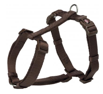 Шлея Trixie Premium H-Harness для собак нейлоновая, 42–60 см/ 15 мм. мокка