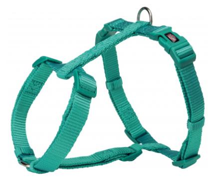 Шлея Trixie Premium H-Harness для собак нейлоновая, 42–60 см/ 15 мм. морская волна