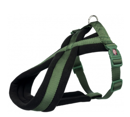 Шлея Trixie Premium Touring Harness для собак нейлоновая, 35-50 см оливковая