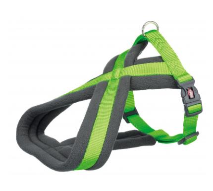 Шлея Trixie Premium Touring Harness для собак нейлоновая, 35-50 см ярко-зелёная