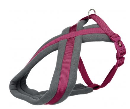 Шлея Trixie Premium Touring Harness для собак нейлоновая, 35-50 см ярко-розовая
