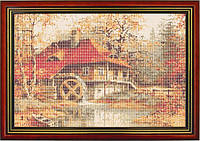 Схема для вышивки бисером «Водяная мельница»