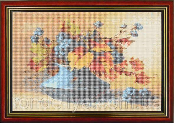 Схема для вишивки бісером «Квіти у блакитний вазі»