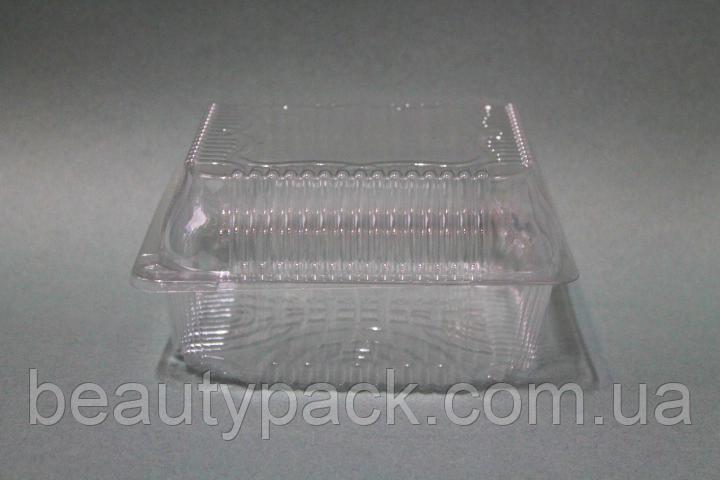 Одноразовый пищевой контейнер для еды / 13 х13 х7.5 см
