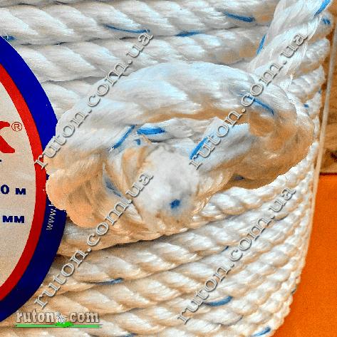 Канат крученый трехпрядный полипропиленовый канатной свивки 16 мм - 100м Birlik, фото 2