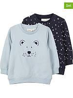 Комплект (Name It, Дания) 2 свитшота с принтами для мальчика Мишка и звездочки 9, 12, 18 мес