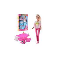 Кукла DEFA 8213 (29см,2-ое детей(4см),ванночка,горшок,миска,2 цвета, в кор-ке, 32,5(DEFA 8213)