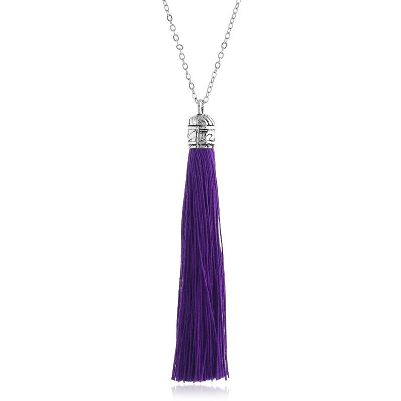 Подвеска кулон СОТУАР фиолетовый цвет кисть кисточки длинные висячие вечернее серьги Кисти фиолетовая