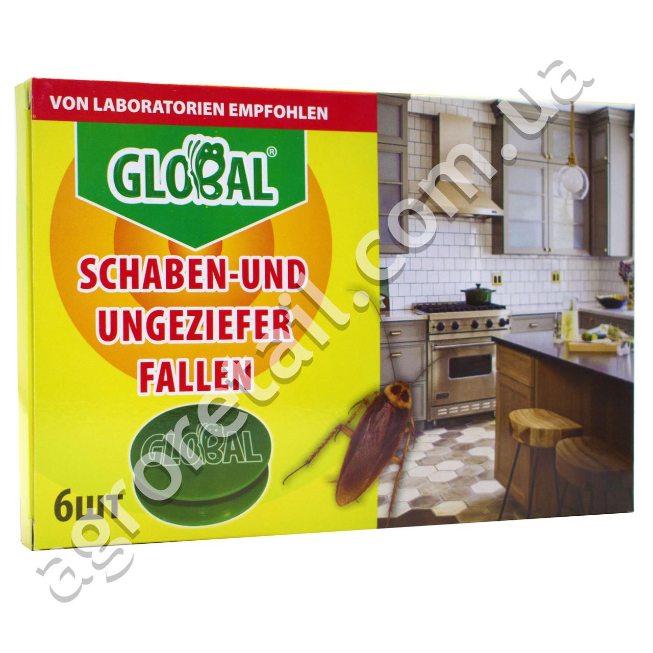 Ловушка для тараканов и муравьев Global 6 дисков