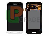 Дисплей для Samsung J320H/DS Galaxy J3 (2016) + тачскрин, белый, OLED, копия хорошего качества