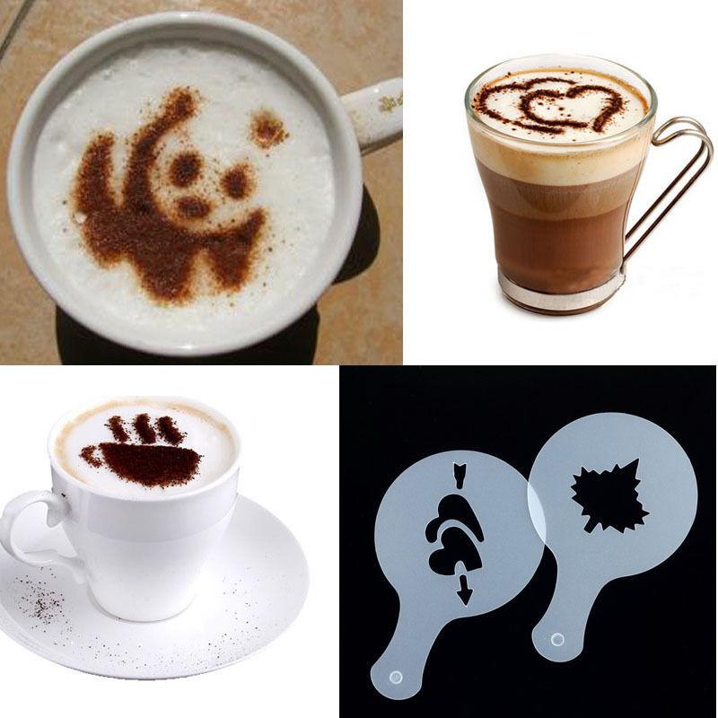 Трафареты для кофе, капучино, десертов ( 16 шт. )
