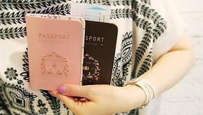 Стильная обложка на паспорт (розовая), фото 2