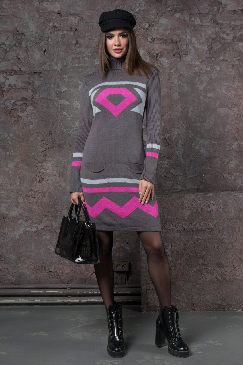 вязаные зимние платья Diamond р 42 50 цена 340 грн купить в