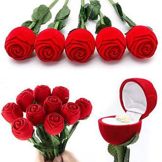 "Подарочная коробочка ""Роза на ножке"" для кольца/подвески/и др., фото 2"