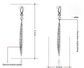 Висячие серьги-гвоздики из коллекции ювелирного дома ROXI, фото 2