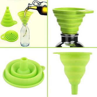 Складная силиконовая лейка/воронка (для готовки, кухни), полезно, портативно, фото 2