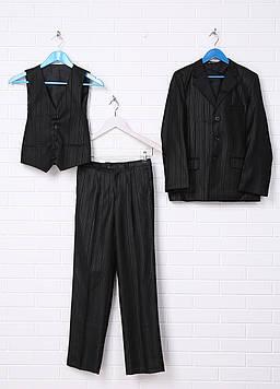 Костюм (пиджак, жилет, брюки) BOLINNIAO 46 черный (GM-380_Black)