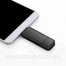 Card Reader, Micro USB OTG адаптер (белый/чёрный), фото 3